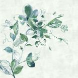 Sumi-e Digital Print Panel Watercolour Flower Green 30621 By BN Wallcoverings For Galerie